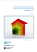 Early Findings: Demand side management